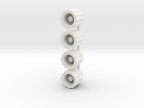 Schrader Valve Deflator in White Natural Versatile Plastic