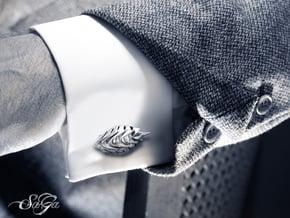 SaGa Cufflink in Polished Silver