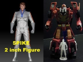 Spike homage Space Man 2inch Transformers Mini-fig in Smooth Fine Detail Plastic