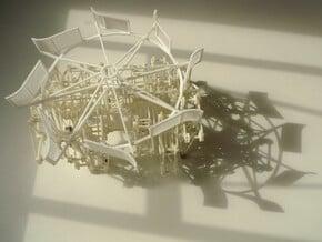 Improved Turbine - Strandbeest Addon (ver2) in White Natural Versatile Plastic