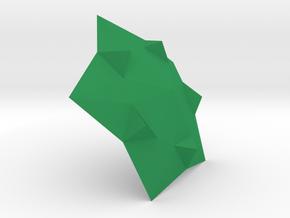 3D Tile in Green Processed Versatile Plastic