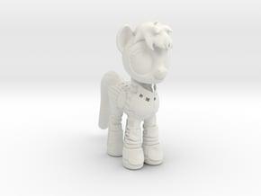 Pony SciFi Armor in White Natural Versatile Plastic