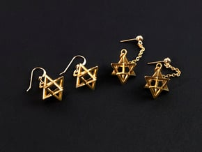 Star Tetrahedron earrings #Gold in 18K Gold Plated