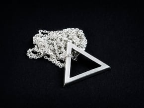 Triangle 'Trinity' pendant #Silver in Fine Detail Polished Silver