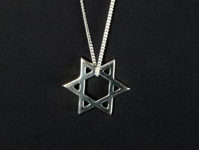 """""""Star of David"""" pendant #Silver in Fine Detail Polished Silver"""