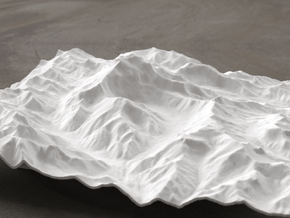 8''/20cm Aconcagua, Argentina, WSF in White Natural Versatile Plastic