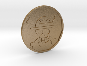 Monkey D. Luffy Coin in Polished Gold Steel