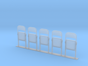 Metal Folding Chair 1/35 scale FOLDED in Smooth Fine Detail Plastic