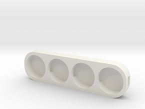 Star Board LED Holder in White Natural Versatile Plastic