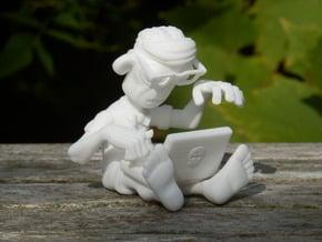 Brainz the Techno Zombie in White Natural Versatile Plastic