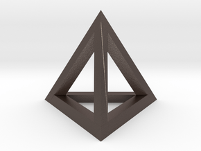 Tetrahedron pendant #Silver in Polished Bronzed Silver Steel