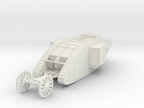 1/100 British Tank Mark 1 Male in White Natural Versatile Plastic