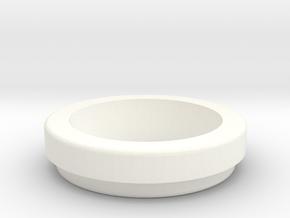 Round Sx350 Bezel for box mods in White Processed Versatile Plastic