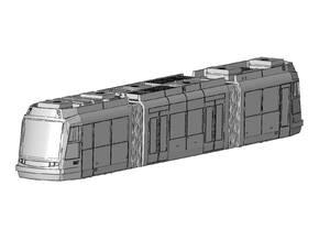 HO Portland Streetcar block model in White Natural Versatile Plastic