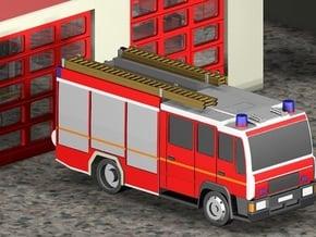 Feuerwehr LHF / Fire truck (Z, 1:220) in Smooth Fine Detail Plastic