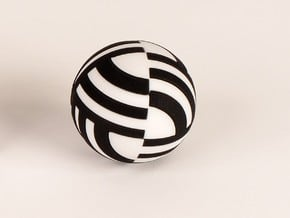 Sphere Version Of Simple Cube Negative 4 Pieces in Black Natural Versatile Plastic