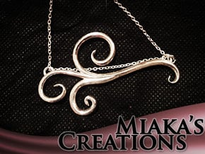 Wind Curls Pendant in Polished Silver