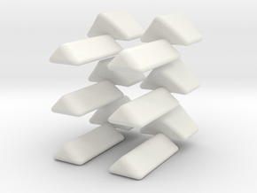 Octo-Star Cube Replacement Triangle Set in White Natural Versatile Plastic