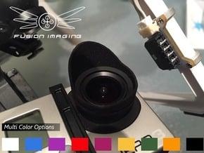 1x. GoPro Hero 3 / Hero 4 Lens Hood  in Black Natural Versatile Plastic