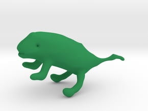 Lizy the Chameleon in Green Processed Versatile Plastic