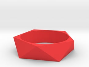Awesome Poly Bracelet in Red Processed Versatile Plastic