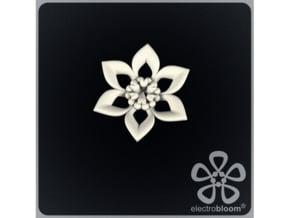 Judy flower charm. in White Natural Versatile Plastic