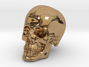 Skull Bead in Polished Brass