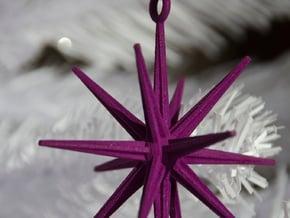 Sputnik Christmas Ornament in Purple Processed Versatile Plastic