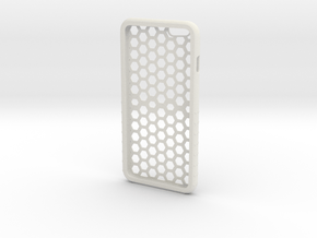 Iphone 6plus Honeycomb in White Natural Versatile Plastic