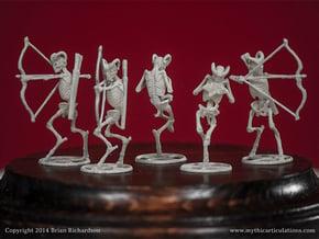 Faun Skeletons 32mm Set in Smooth Fine Detail Plastic