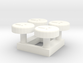 A-06 Station Help Points in White Processed Versatile Plastic
