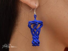 Flamboyant Teardrop Earrings / 3D Printed Earrings in White Natural Versatile Plastic