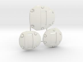 1:6 Sci-Fi armor plates no markings in White Natural Versatile Plastic