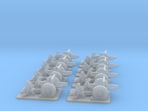 6mm WW1 German field cannons X8 in Smooth Fine Detail Plastic