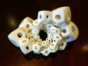 Dodecahedron Chains 1 in White Natural Versatile Plastic