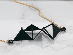 Triangular Pendant in Black Natural Versatile Plastic