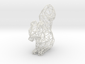 Squirrel-skin Mod in White Natural Versatile Plastic