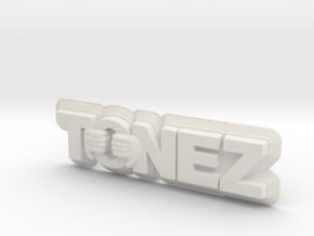 ToneZ Plate in White Natural Versatile Plastic