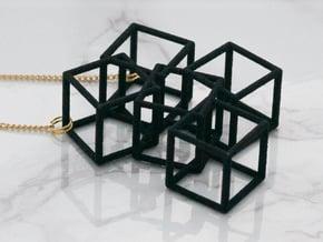 Metaesquema Pendant in Black Natural Versatile Plastic