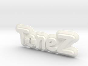 ToneZ Plate - Comic Sans Edition in White Processed Versatile Plastic