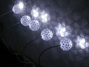 Part of stereographic projection lamp in White Natural Versatile Plastic