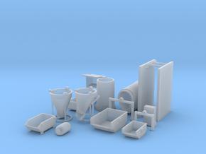 N 1:160 Baustellenzubehör in Smooth Fine Detail Plastic