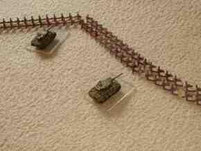 1/300 Hedgehog antitank obstacles x 72 in White Natural Versatile Plastic