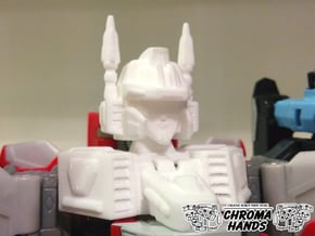 Energon Superion Head & Neck ONLY Upgrade in White Processed Versatile Plastic