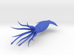 Squid-3D in Blue Processed Versatile Plastic
