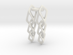 Cube Chain in White Natural Versatile Plastic