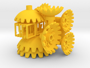 Yellow Gears & Tiles for the Multi-Gear Cube Kit in Yellow Processed Versatile Plastic