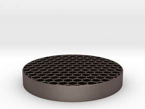 Honeycomb KillFlash 48mm diam 7mm height 4 mm clea in Polished Bronzed Silver Steel