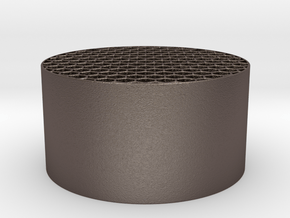 Honeycomb KillFlash 48mm diam 25mm height in Polished Bronzed Silver Steel