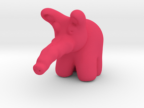 Pink Elephant from Dumbo in Pink Processed Versatile Plastic